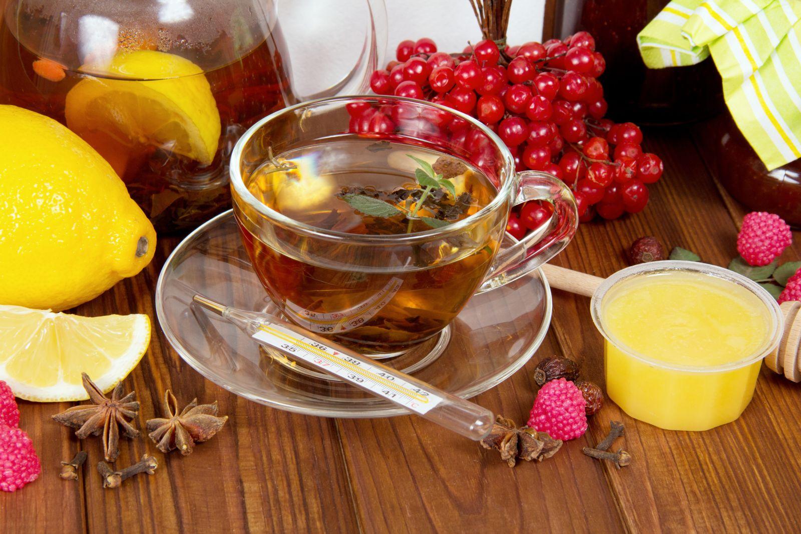 Грипп чай с медом